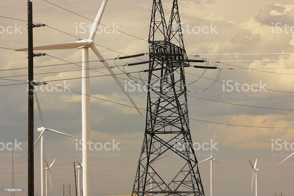 Windmill Vertical Axis Wind Turbine Electricity royalty-free stock photo