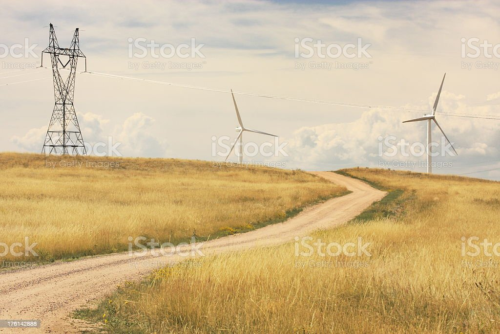 Windmill Vertical Axis Wind Turbine Technology royalty-free stock photo