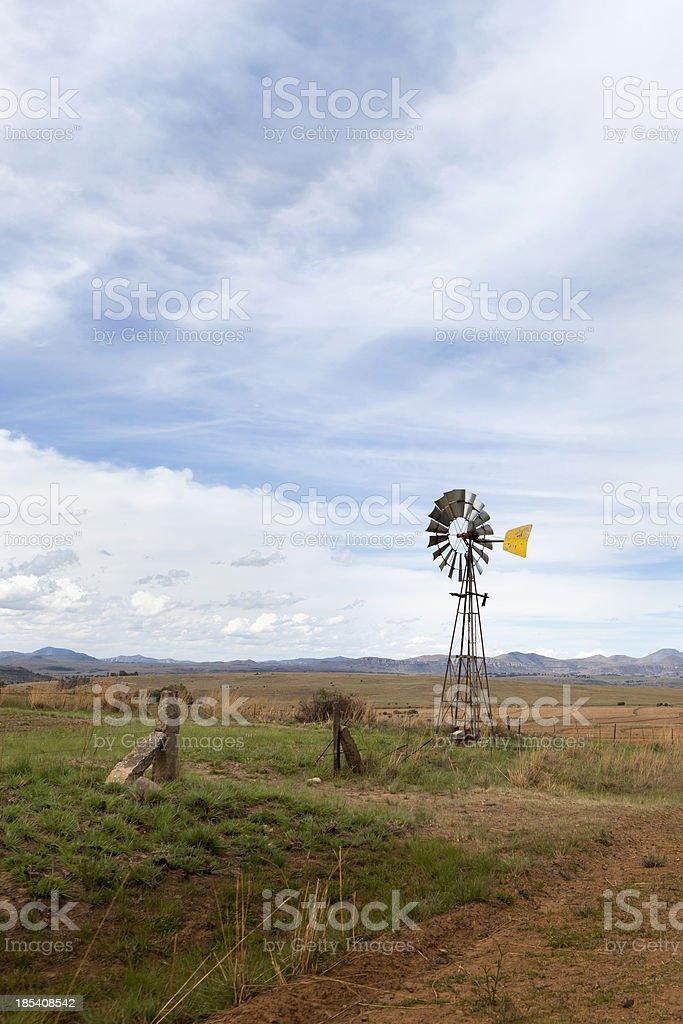 Windmill waterpump near Cloclan royalty-free stock photo