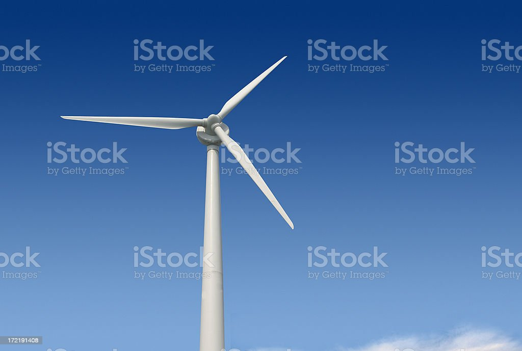 Windmill with Clipping Path royalty-free stock photo