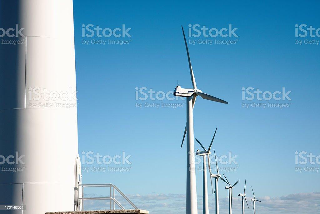 Windmills Alternative Energy stock photo