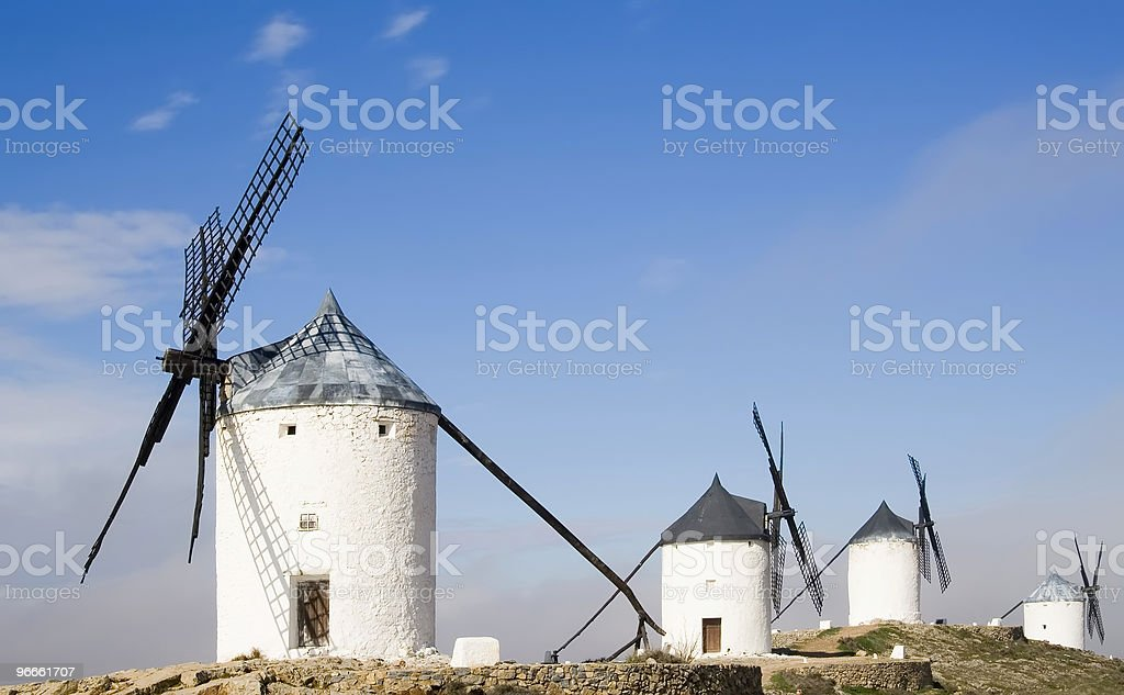 Windmills at Consuegra royalty-free stock photo