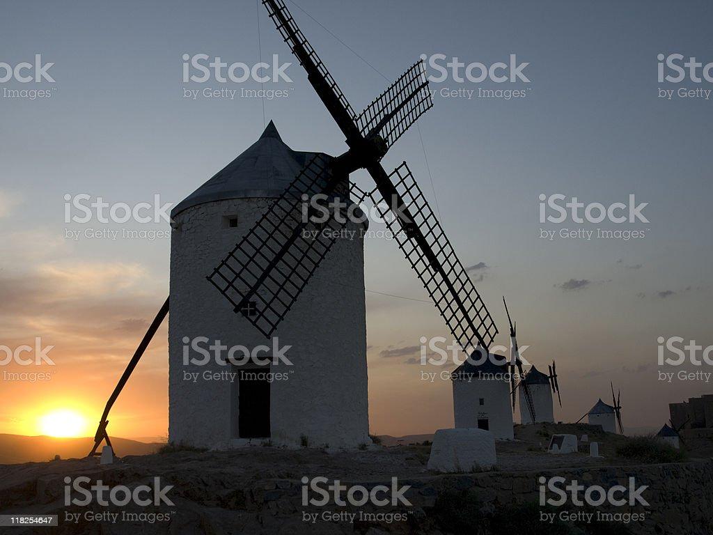 Windmills at Consuegra, Spain stock photo