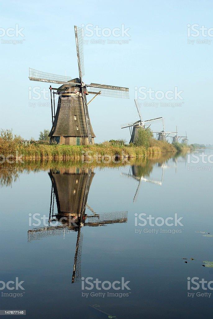 Windmills at Kinderdijk royalty-free stock photo