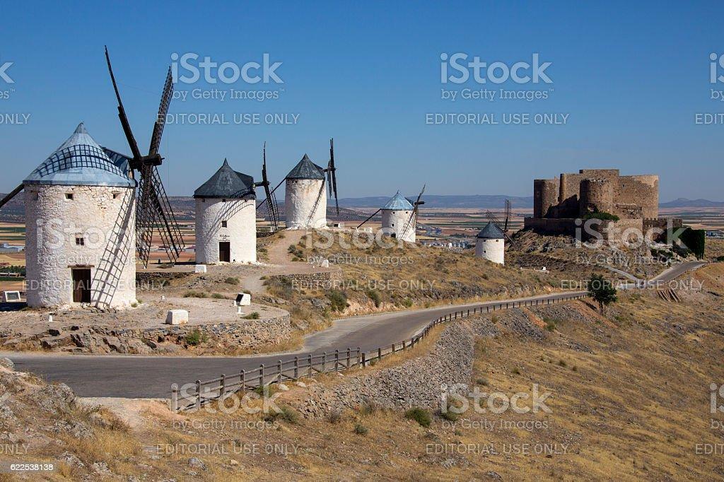 Windmills - Consuegra - Spain stock photo