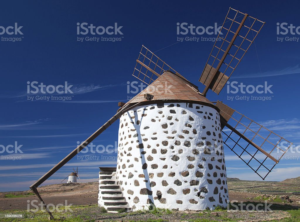Windmills, Fuerteventura stock photo