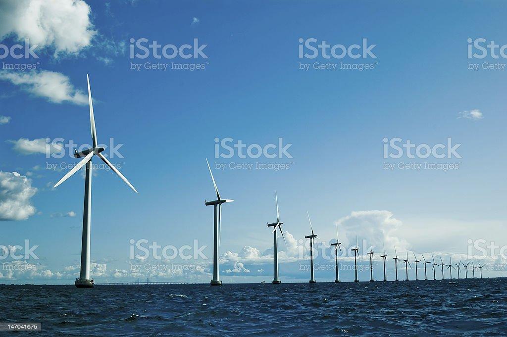 Windmills further, horizontal stock photo