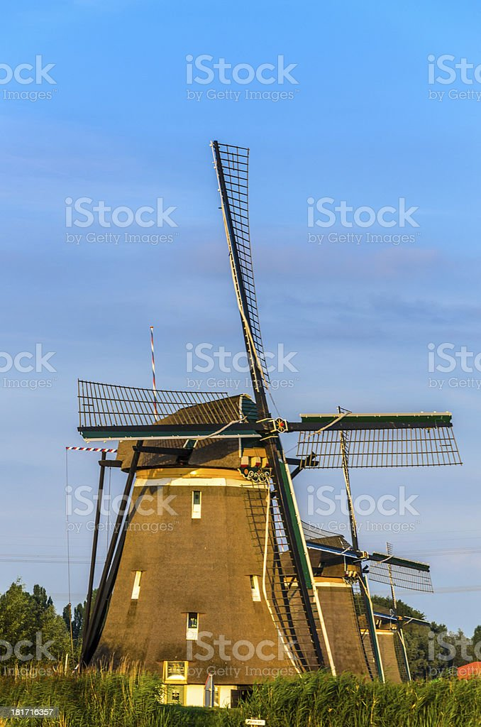 Windmills in a row royalty-free stock photo
