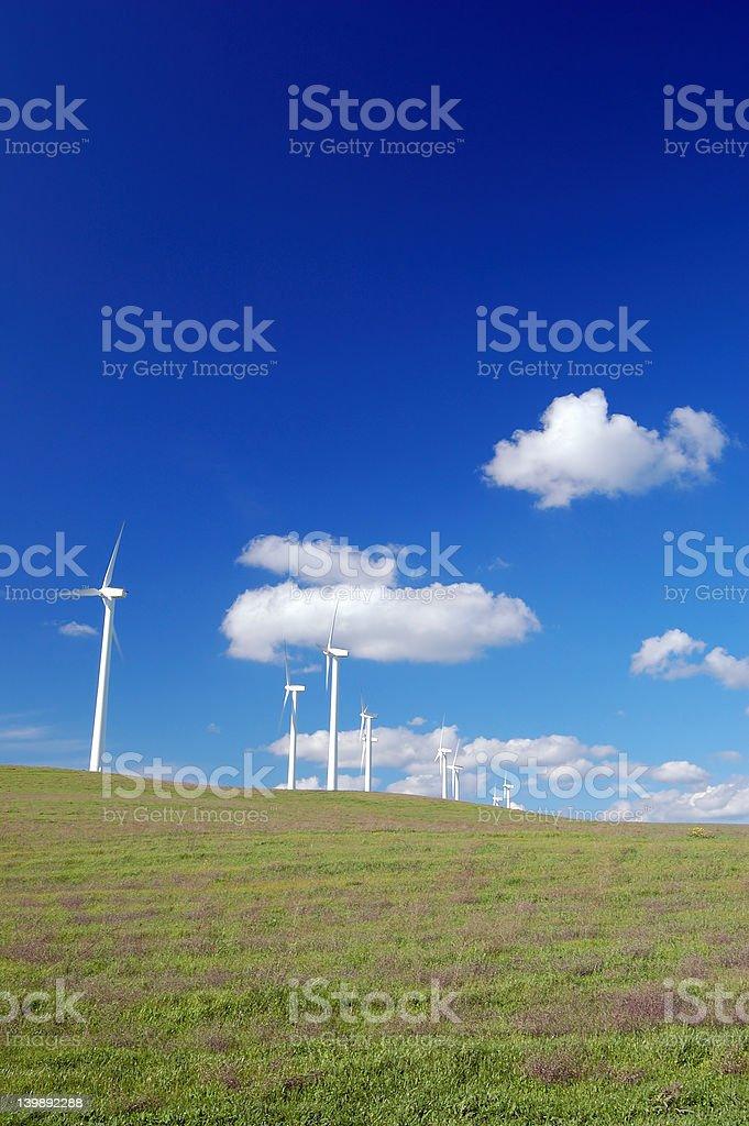 windmills in field royalty-free stock photo