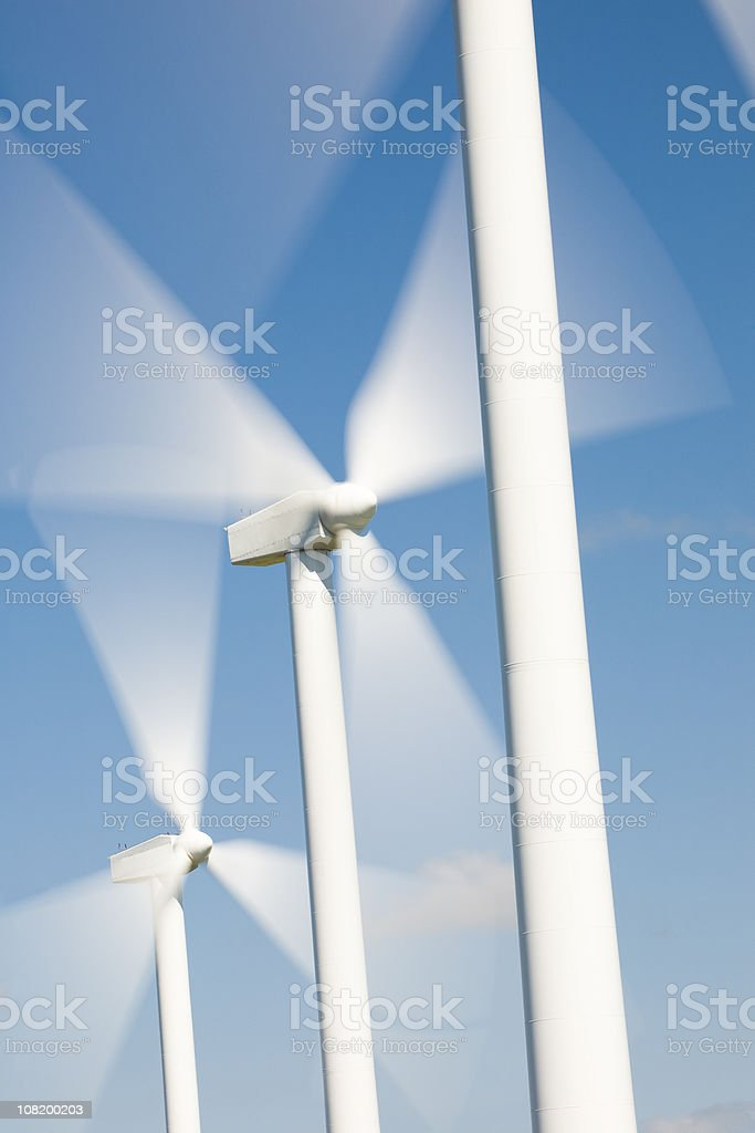 Windmills in Motion stock photo