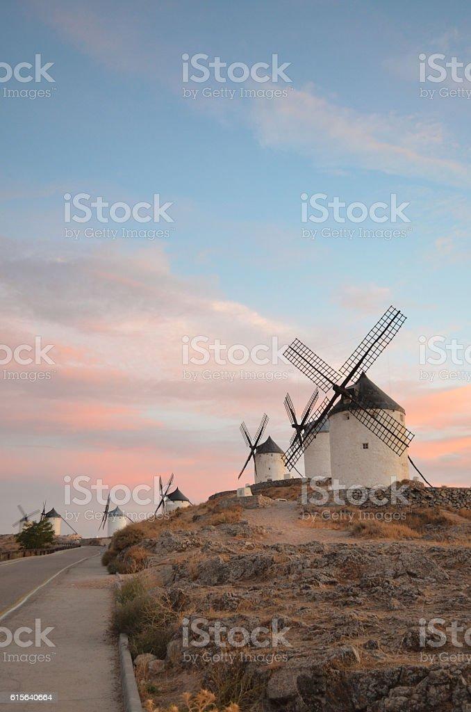 windmills in Spain stock photo