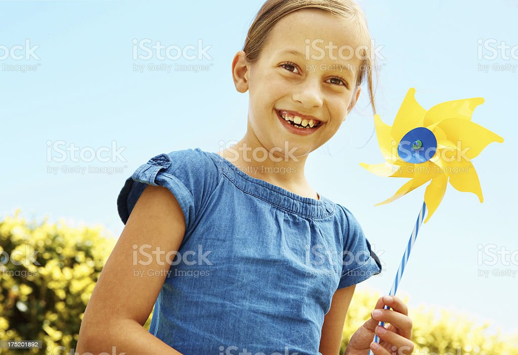 Windmills in the sunshine - Youthful bliss stock photo
