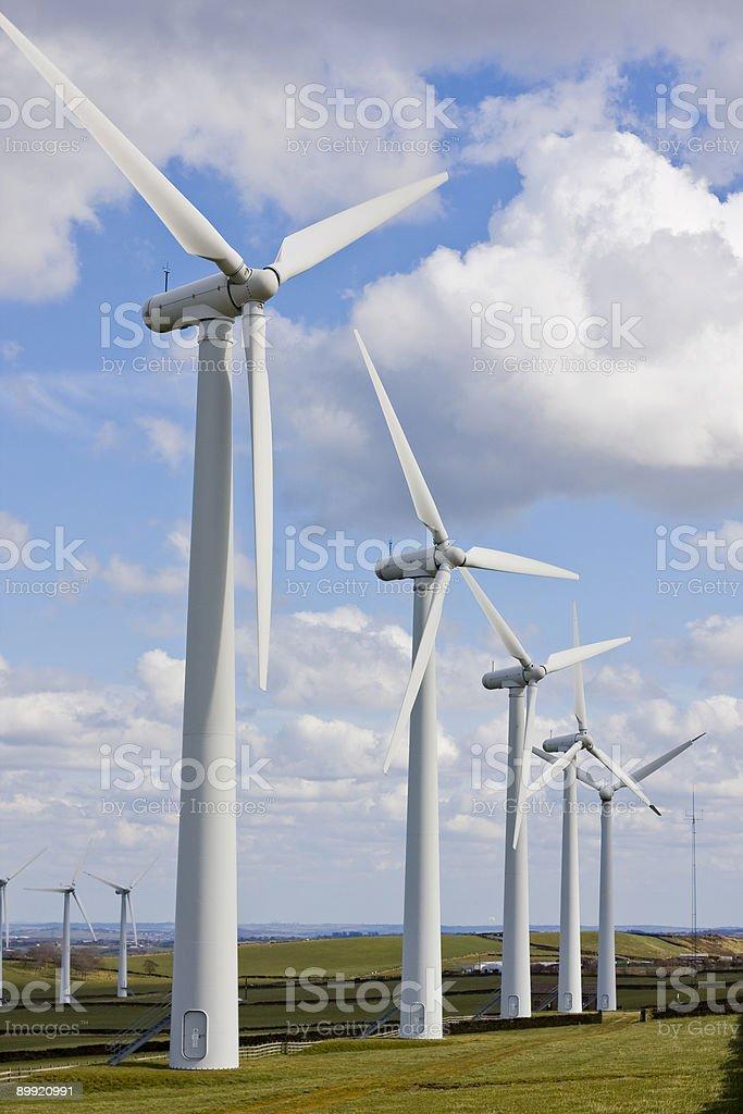 Ветряные в windfarm Стоковые фото Стоковая фотография