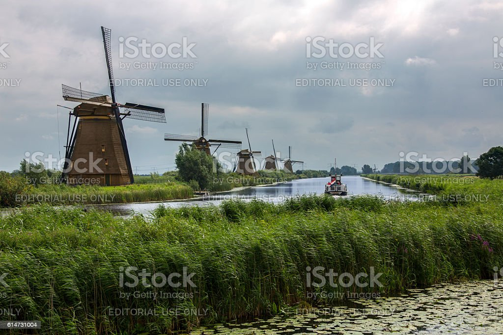 Windmills - Kinderdijk - Netherlands stock photo