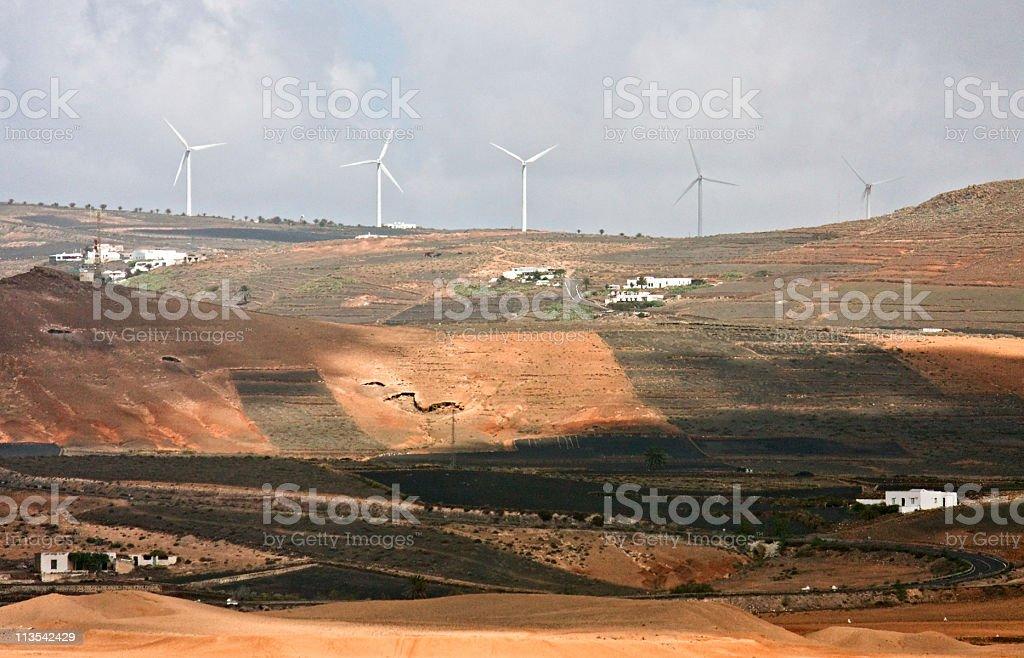 Windmills, Lanzarote, Canary Islands royalty-free stock photo