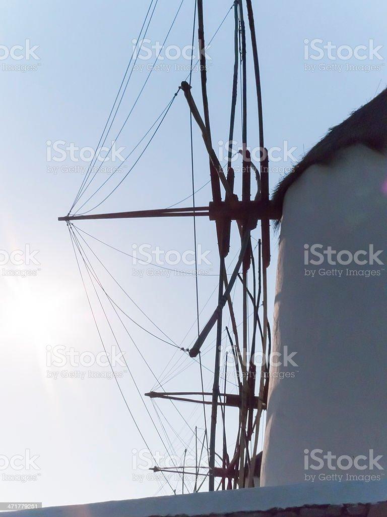 windmills  mykonos town royalty-free stock photo