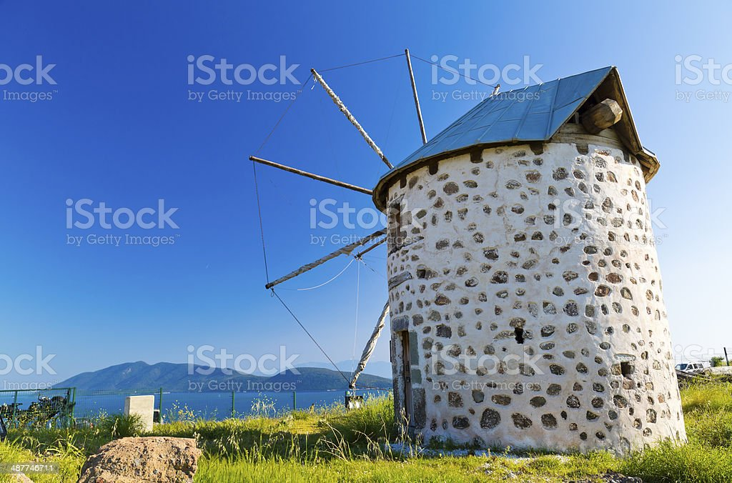 Windmills of Bodrum, Turkey royalty-free stock photo
