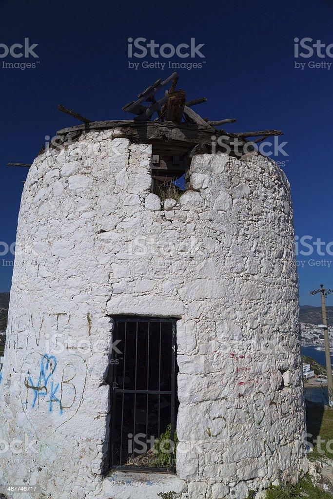 Windmills of Bodrum, Turkey royalty-free stock photo