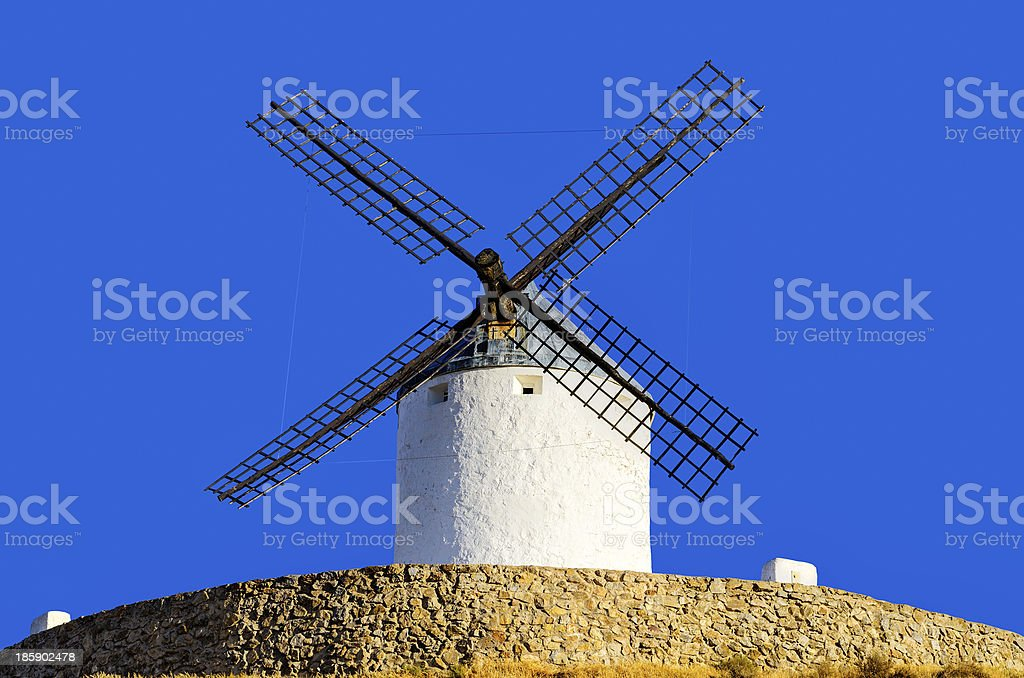 windmills of Consuegra, Spain royalty-free stock photo