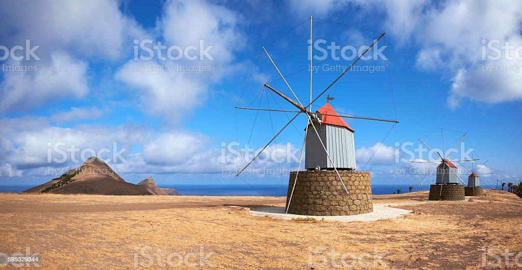 Windmills Of Porto Santo stock photo
