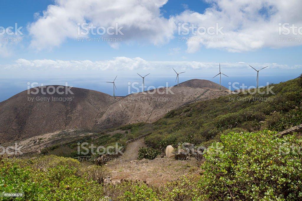 Windmills of Valverde stock photo