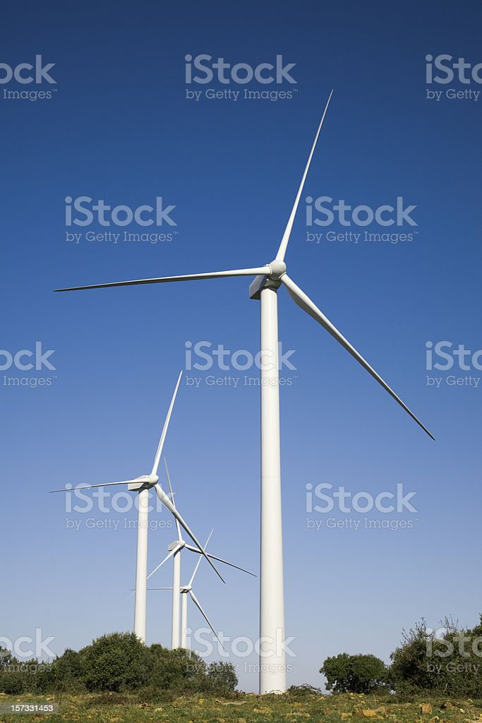 Windmills royalty-free stock photo