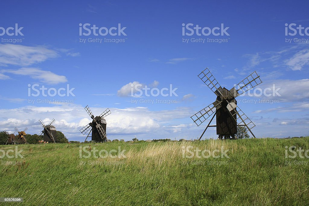 windmills stock photo