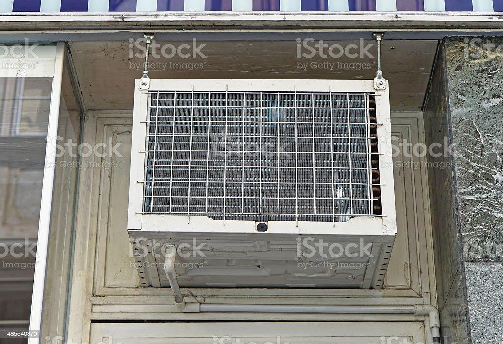 Window air conditioner stock photo