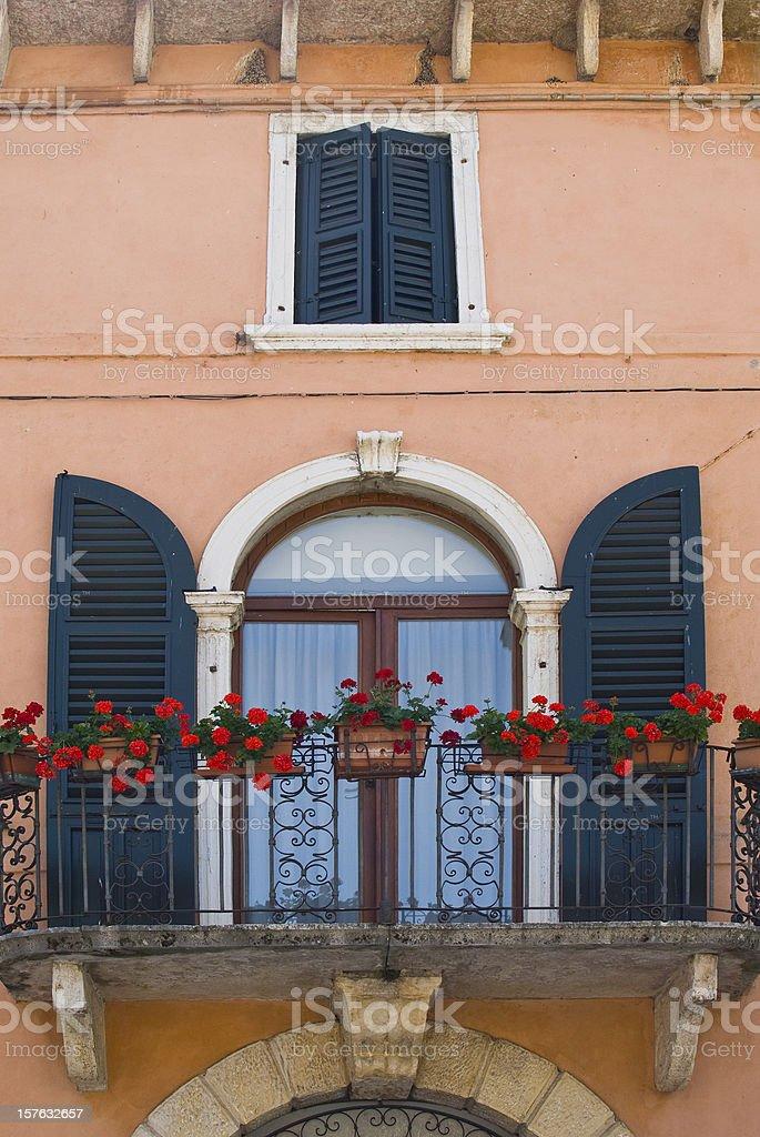 Window and balcony in italy stock photo