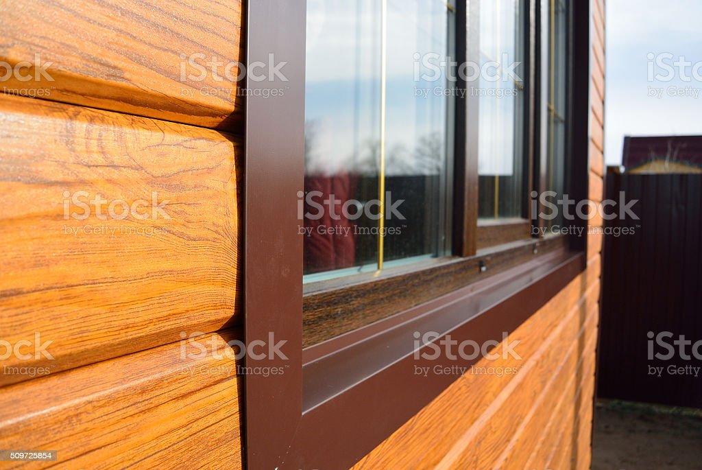 window and beams stock photo