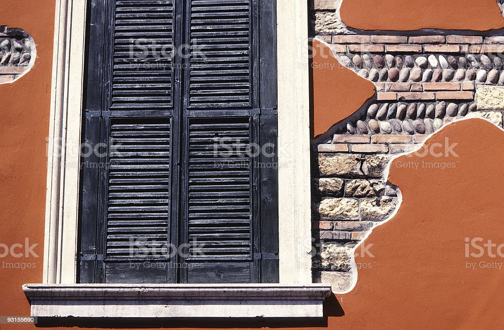 Window and Building Detail, Italy stock photo