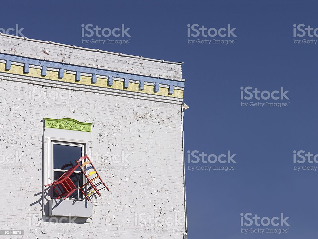Window And Chairs royalty-free stock photo