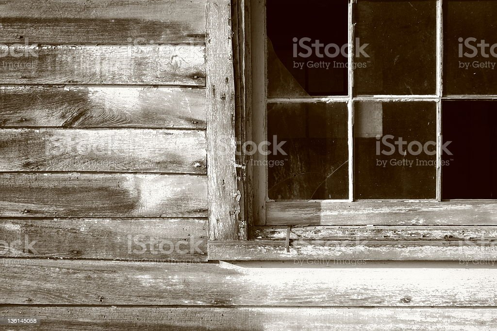 window and old wood royalty-free stock photo