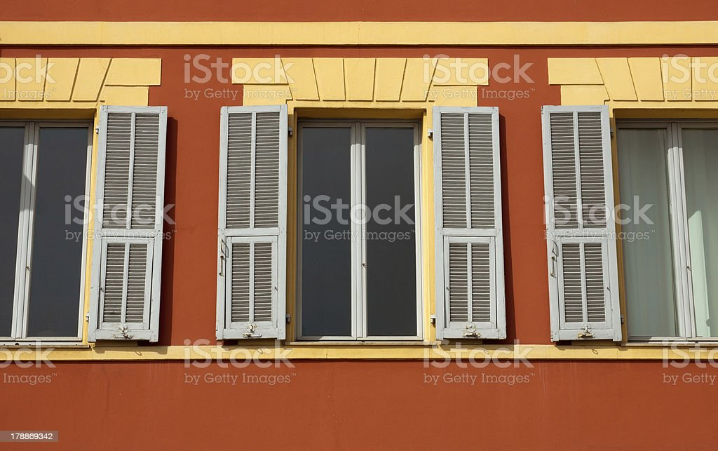 Window and shutters royalty-free stock photo
