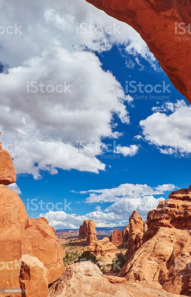 Window Arch, Arches National Park stock photo