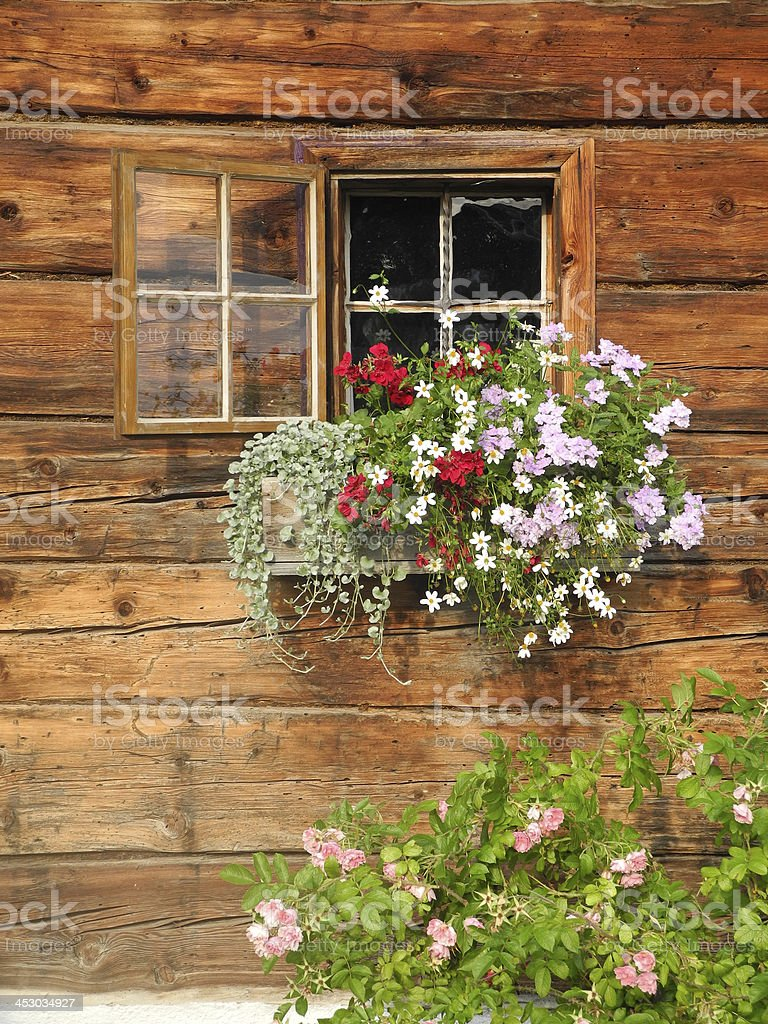 Window at an old house stock photo