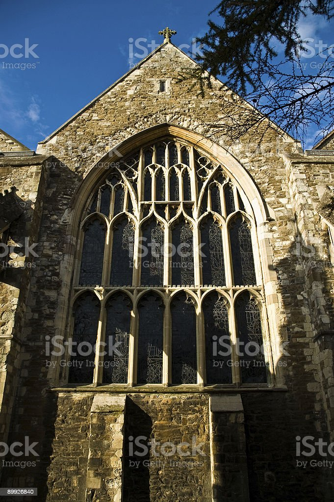 Window at St Mary's Church, Rye, Sussex. royalty-free stock photo