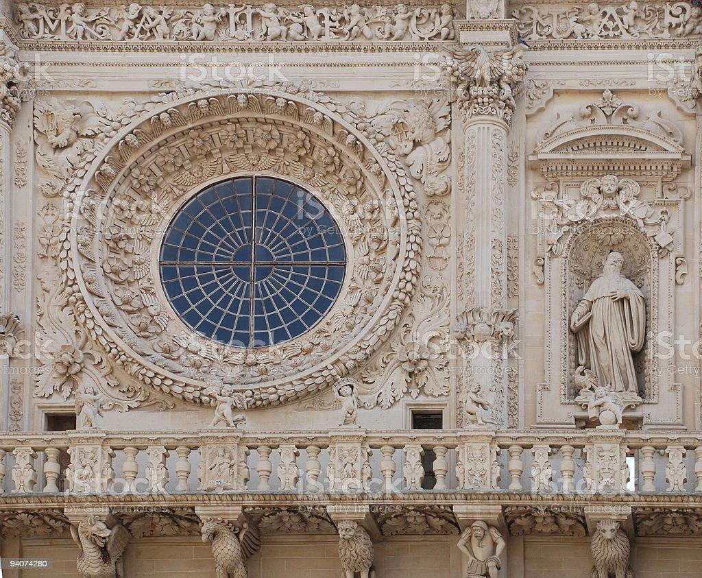 Window, Basilica di Santa Croce stock photo