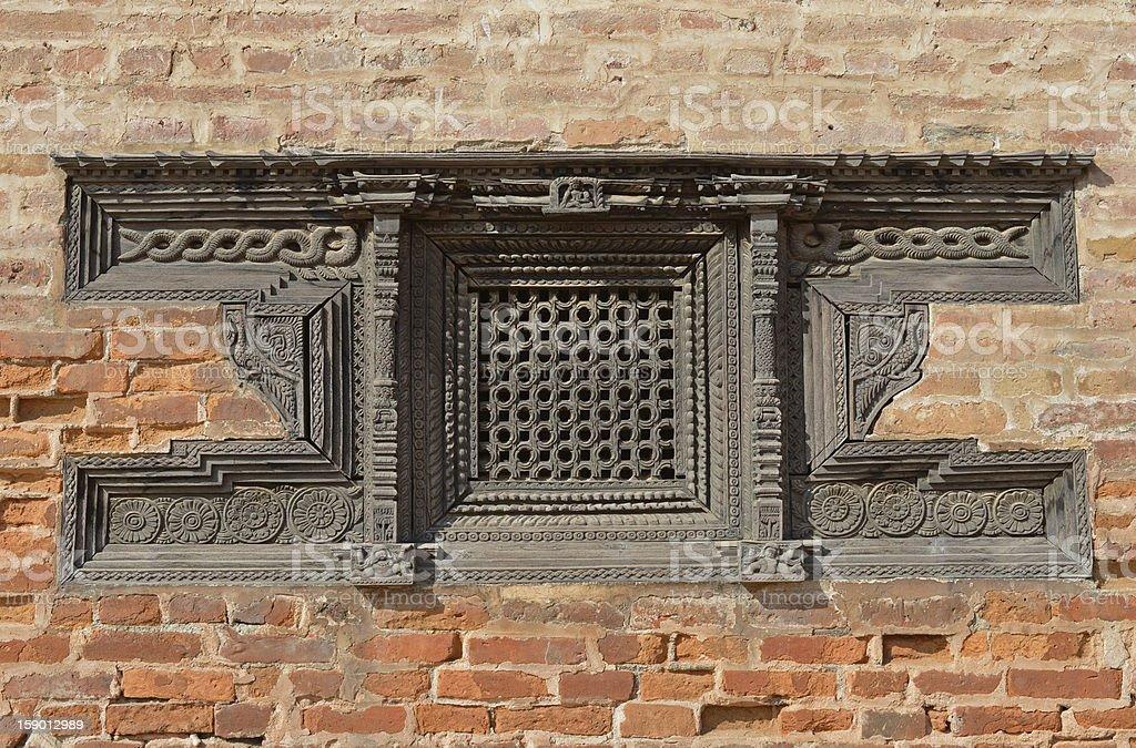 Window, Bhadgaon, Nepal stock photo