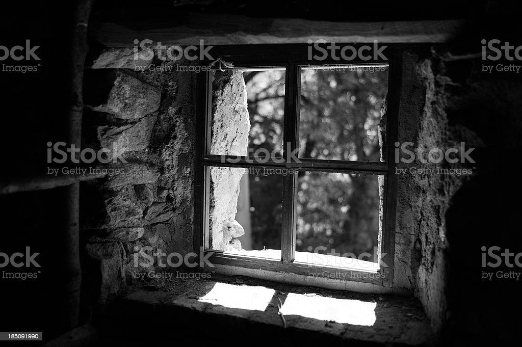 Window Black and white royalty-free stock photo
