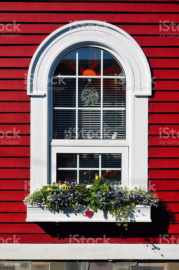 Window Box Flowers stock photo
