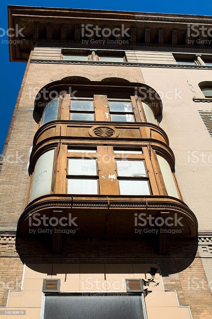 Window Box on Old Building Washington, DC, USA stock photo