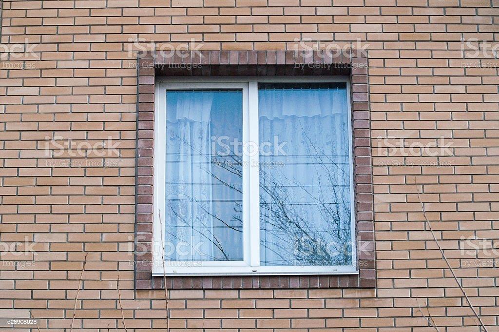 window brick house stock photo