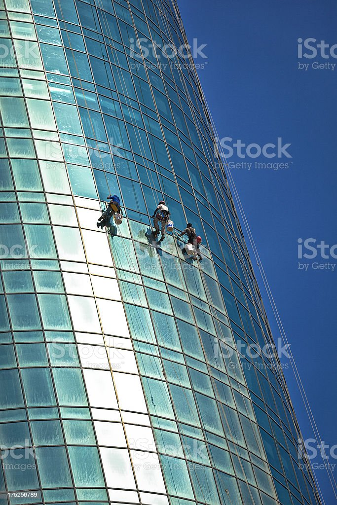 window cleaner royalty-free stock photo