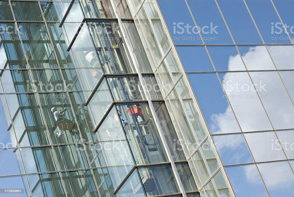 Window Cleaner Series stock photo