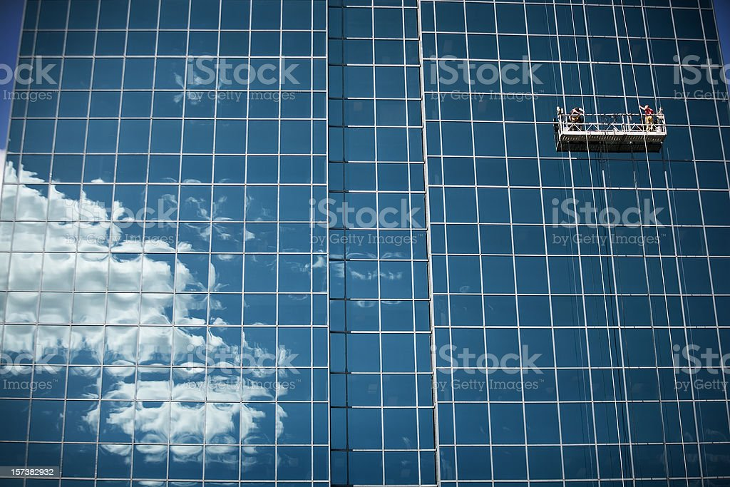 Window Cleaners. stock photo