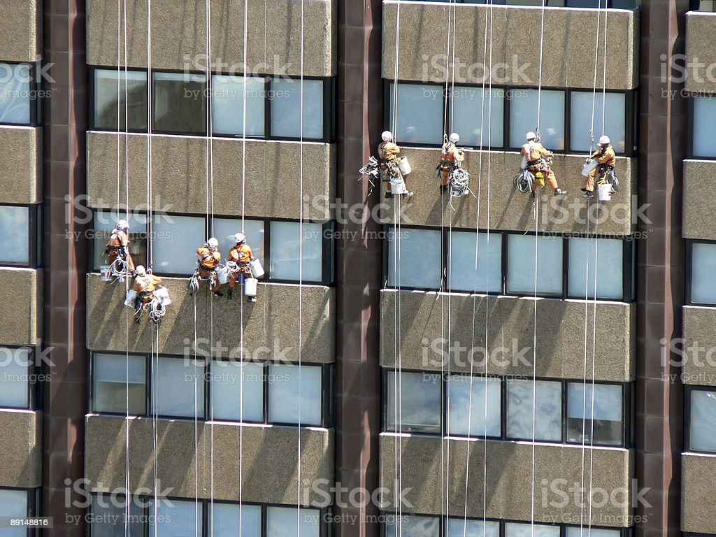 Window Cleaners royalty-free stock photo