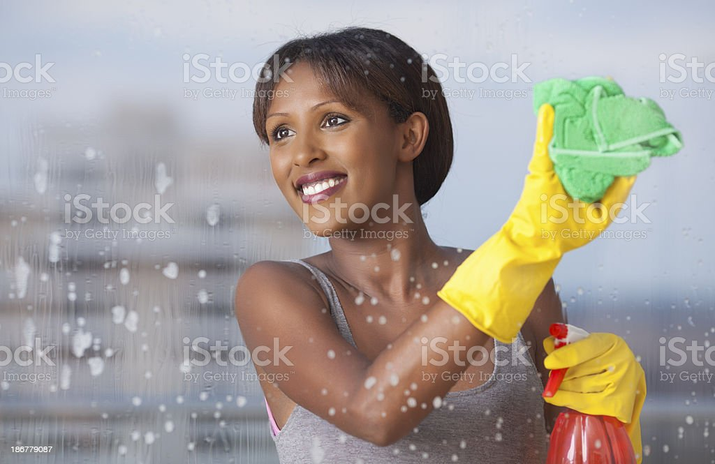 Window cleaning. royalty-free stock photo