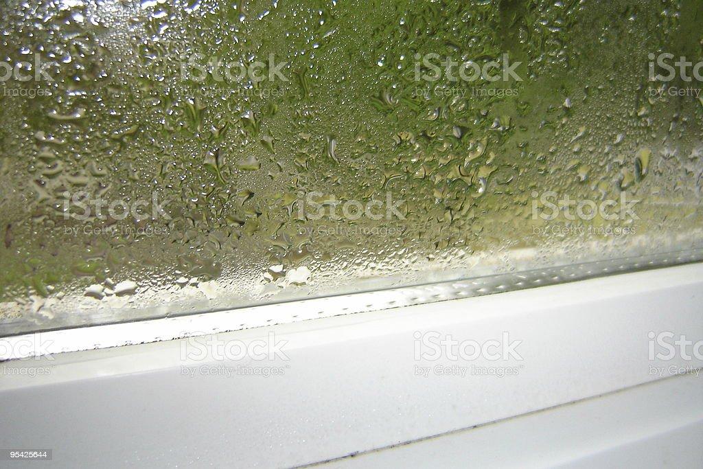 Window Condensation royalty-free stock photo