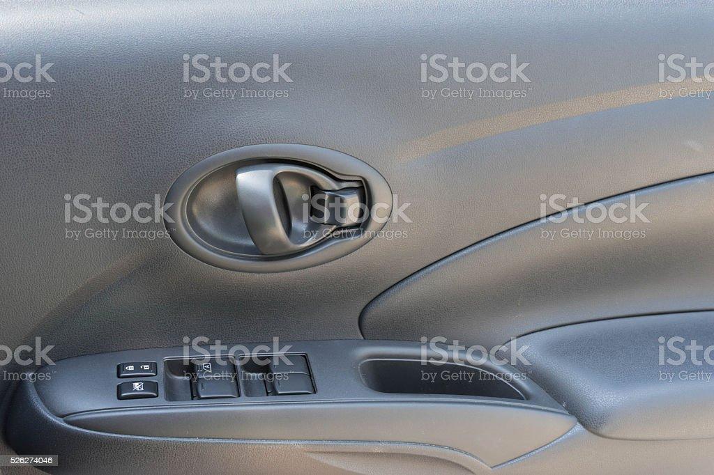 window control button beside door car stock photo